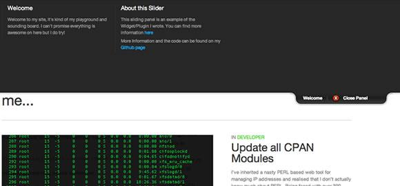 WordPress jQuery Sliding Widget Panel