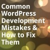 Common WordPress Development Mistakes